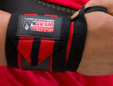 Wrist Wraps PRO Handgelenkbandagen Schwarz/Rot | Gorilla Wear®_