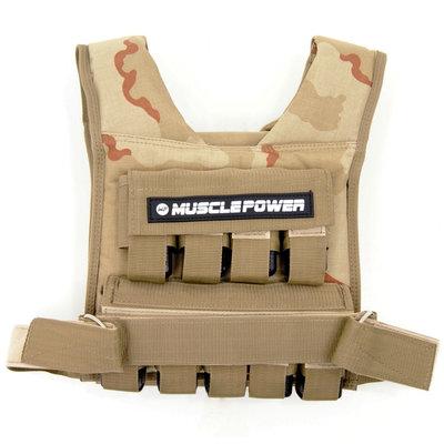 Gewichtsweste 20KG Camo | Muscle Power®