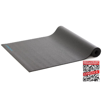 Active Fitnessmat Schwarz 4MM | Gymstick®